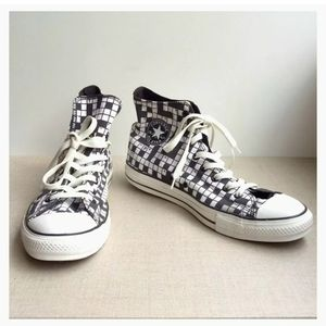 Converse US 12 Crossword Puzzle Lace-Up Sneakers
